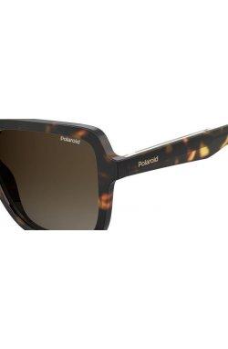 Солнцезащитные очки женские Polaroid PLD4095/S/X-086-LA - квадратные, Цвет линз - коричневый