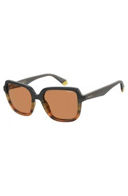 Солнцезащитные очки женские Polaroid PLD4095/S/X-M9L-HE - квадратные, Цвет линз - оранжевый