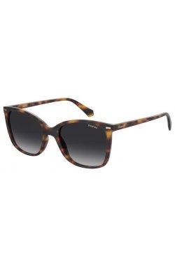 Солнцезащитные очки женские Polaroid PLD4108/S-086-LA - бабочки;квадратные;трапеция, Цвет линз - коричневый