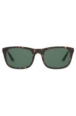 Солнцезащитные очки женские Polaroid PLD2104/S/X-KRZ-UC - квадратные;прямоугольные, Цвет линз - зеленый