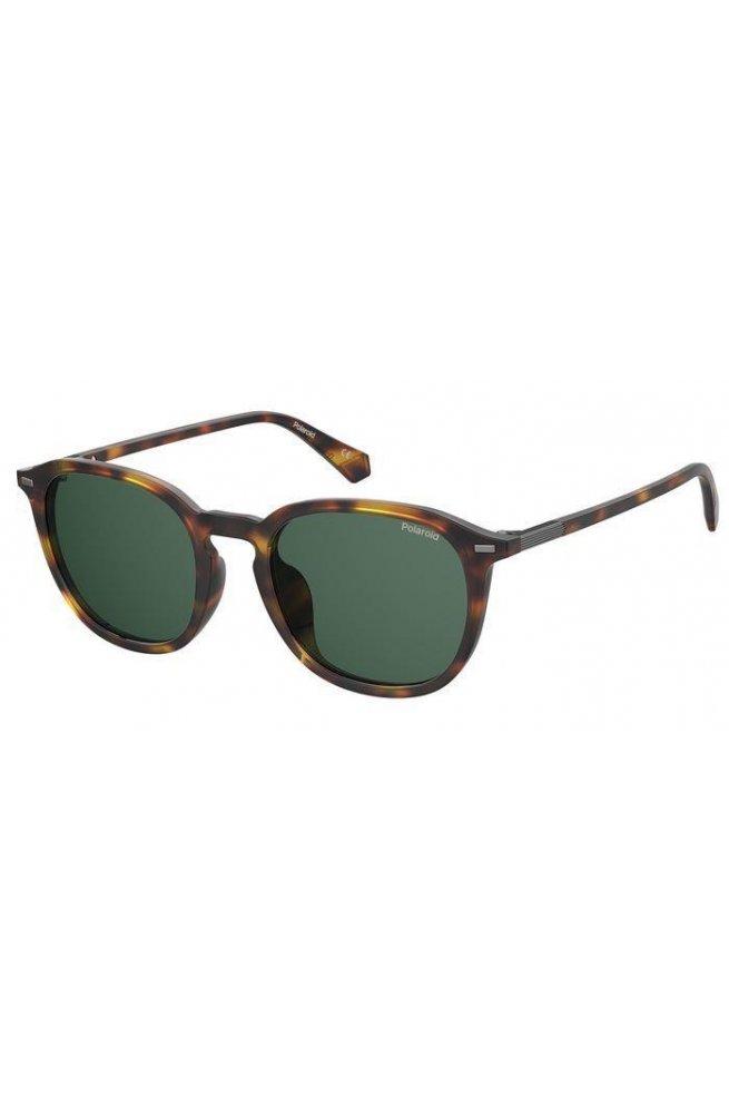 Солнцезащитные очки женские Polaroid PLD2115/F/S-086-UC - квадратные;круглые, Цвет линз - зеленый