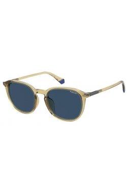 Солнцезащитные очки женские Polaroid PLD2115/F/S-HAM-C3 - квадратные;круглые, Цвет линз - синий;серый