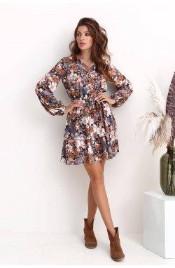 Платье 3221-c01 - Серый/принт