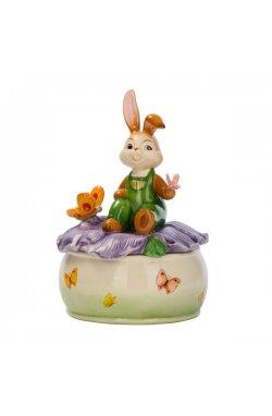Музыкальная шкатулка с кроликом 17 см - wws-3061