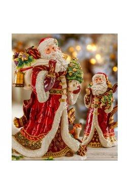 "Статуэтка музыкальная ""Дед мороз"" 25 см - wws-7589"