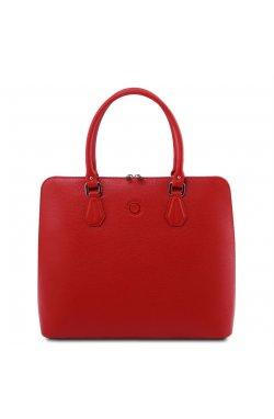 TL141809 Magnolia - Красная женская кожаная деловая сумка от Tuscany (Италия)