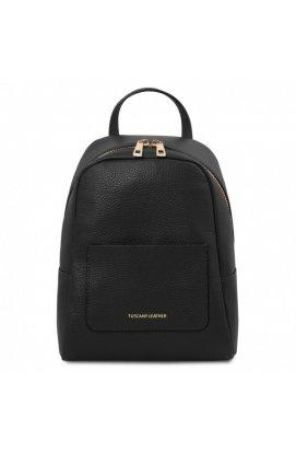 TL142052 TL Bag - небольшой женский кожаный рюкзак мягкий, цвет: Черный