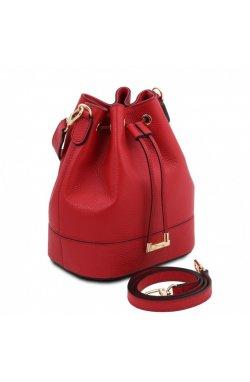 TL142083 TL Bag - женская сумка-мешок из натуральной кожи, цвет: Lipstick Red