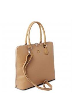 TL141809 Шампань Magnolia - женская кожаная деловая сумка от Tuscany