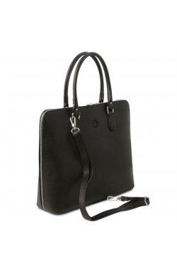 TL141809 Черный Magnolia - женская кожаная деловая сумка от Tuscany