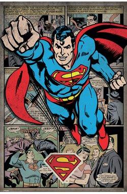 Постер Superman (Comic Montage) 61 x 91,5 см - wws-847