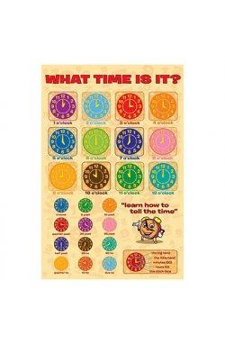 """Постер """"Который час?"""" 61 x 91,5 см - wws-2086"""