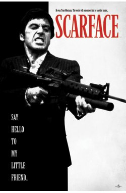 "Постер ""Scarface (Say Hello To My Little Friend)"" 61 x 91,5 см - wws-6013"