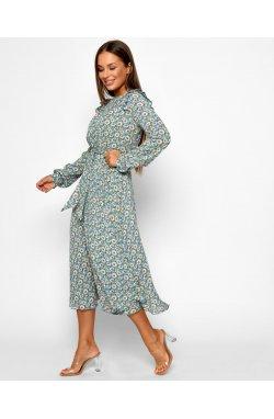 Платье Carica KР-10379-11 - Цвет Голубой