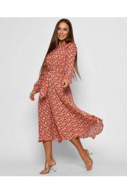 Платье Carica KР-10379-14 - Цвет Красный