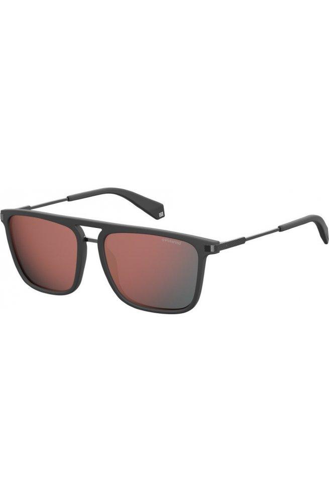 Мужские солнцезащитные очки Polaroid PLD2060/S-268-OZ - wayfarer, Цвет линз - красный;серый