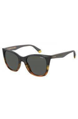 Солнцезащитные очки женские Polaroid PLD4096/S/X-XYO-M9 - квадратные;бабочки;трапеция, Цвет линз - серый