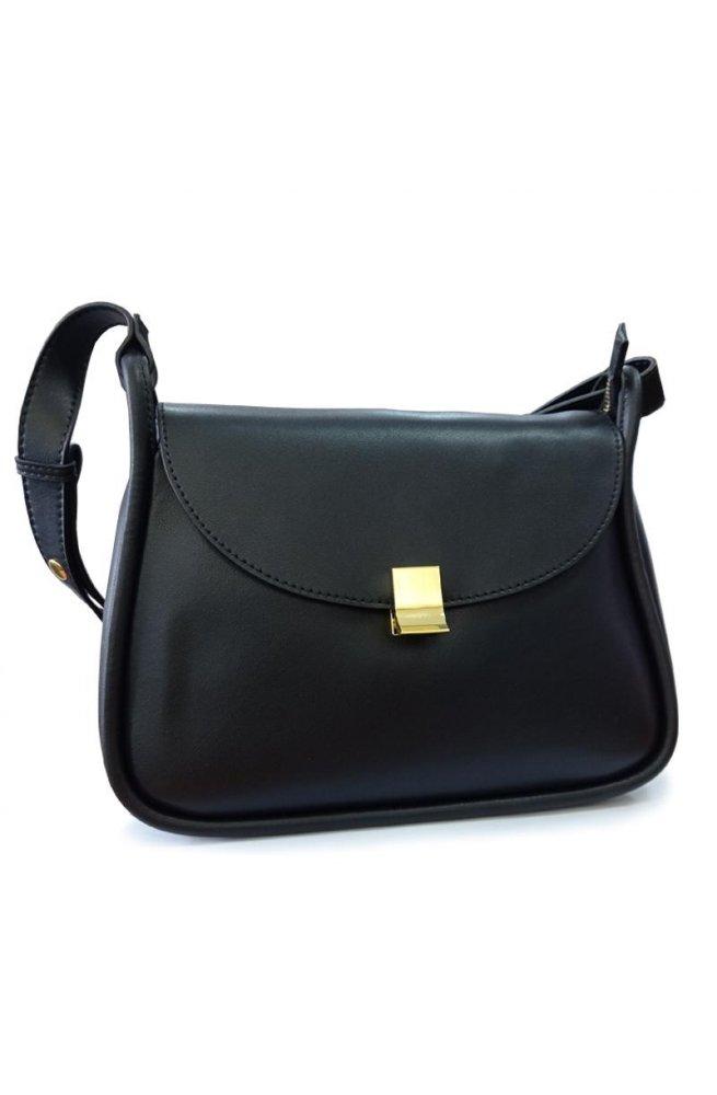 Женская кожаная сумка F-S-GR-2722A - натуральная кожа, черный