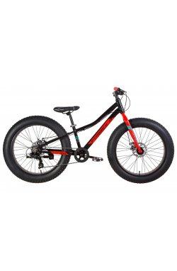 """Велосипед Велосипед 24"""" Formula PALADIN 2021 (черно-красный с бирюзовым)"""