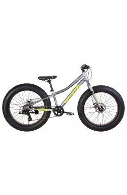 """Велосипед Велосипед 24"""" Formula PALADIN 2021 (серо-зелёный с черным (м))"""