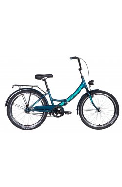 """Велосипед Велосипед 24"""" Formula SMART с фонарём 2021 (малахитовый)"""