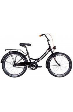 """Велосипед Велосипед 24"""" Formula SMART с фонарём 2021 (черно-оранжевый)"""
