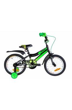 """Велосипед Велосипед 16"""" Formula RACE 2021 (черно-зеленый с белым)"""