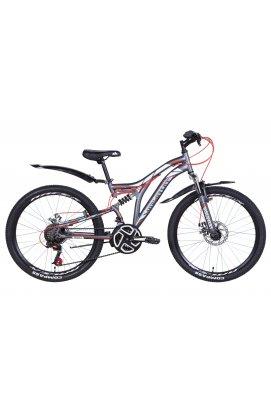 """Велосипед Велосипед 24"""" Discovery ROCKET DD 2021 (графитово-белый с красным (м))"""