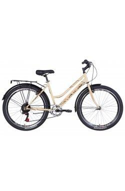 """Велосипед Велосипед 26"""" Discovery PRESTIGE WOMAN 2021 (бело-фиолетовый с черным)"""