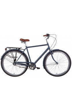 """Велосипед Велосипед 28"""" Dorozhnik COMFORT MALE планет. 2021 (серый с черным (м))"""