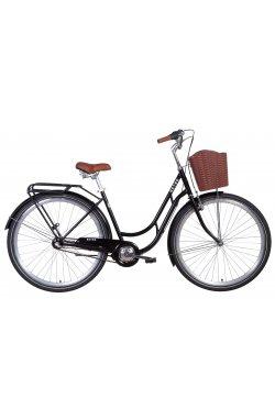 """Велосипед Велосипед 28"""" Dorozhnik RETRO планет. 2021 (черный)"""