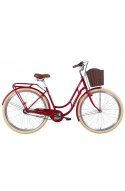 """Велосипед Велосипед 28"""" Dorozhnik RETRO планет. 2021 (рубиновый)"""
