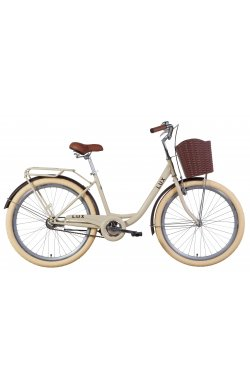 "Велосипед Велосипед 26"" Dorozhnik LUX 2021 (бежевый)"