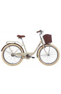 "Велосипед Велосипед 26"" Dorozhnik LUX 2021 (серый)"