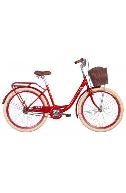 "Велосипед Велосипед 26"" Dorozhnik LUX 2021 (рубиновый)"