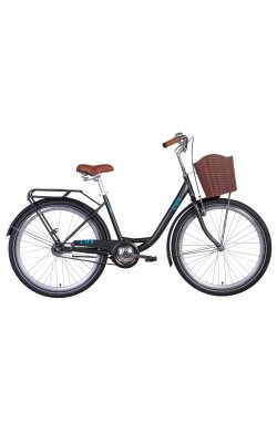 """Велосипед Велосипед 26"""" Dorozhnik LUX 2021 (черный с синим (м))"""
