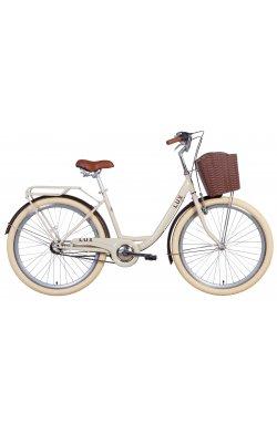 "Велосипед Велосипед 26"" Dorozhnik LUX планет. 2021 (бежевый)"