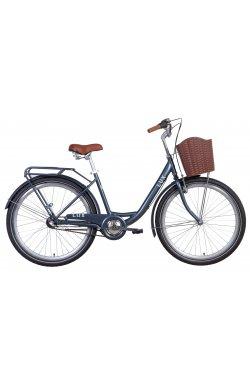 """Велосипед Велосипед 26"""" Dorozhnik LUX планет. 2021 (синий)"""