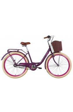 """Велосипед Велосипед 26"""" Dorozhnik LUX планет. 2021 (сливовый (м))"""