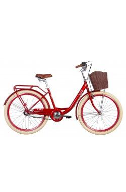 """Велосипед Велосипед 26"""" Dorozhnik LUX планет. 2021 (рубиновый)"""