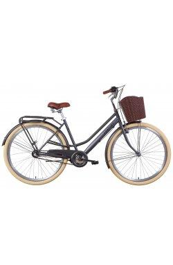 """Велосипед Велосипед 28"""" Dorozhnik COMFORT FEMALE планет. 2021 (антрацитовый (м))"""
