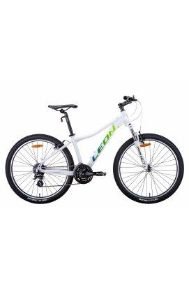 """Велосипед Велосипед 26"""" Leon HT-LADY 2021 (бело-синий с салатным)"""
