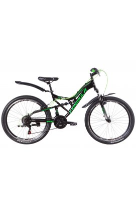 """Велосипед Велосипед 26"""" Formula ATLAS 2021 (черно-зеленый с серым)"""