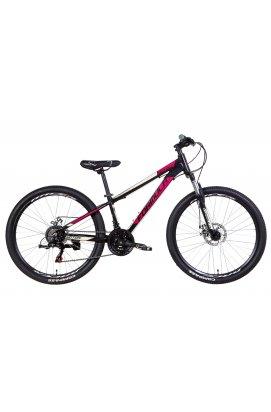 """Велосипед Велосипед 26"""" Formula MOTION 2021 (черно-фиолетовый с бежевым)"""