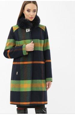 Пальто MS-125 Z — — GLEMклетка т.синий/зеленый
