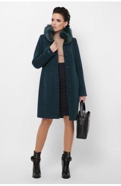 Пальто женское П-330-90 з - GLEM, 7169-изумруд