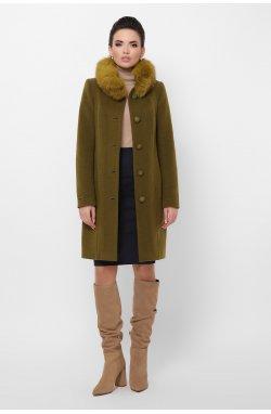 Пальто женское П-330-90 з - GLEM, 745-оливка
