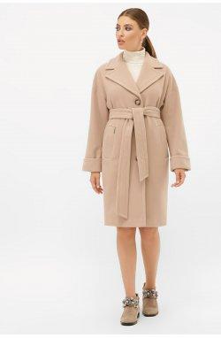 Пальто женское П-408-100 - GLEM, 052-бежевый