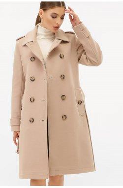 Пальто женское П-412-100 - GLEM, 052-бежевый