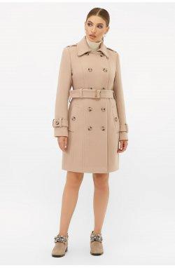 Пальто женское П-414-90 - GLEM, 052-бежевый